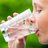 boy drinking clean water