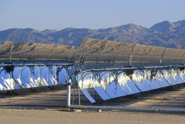 solar panels at the southern California Edison plant in Barstow